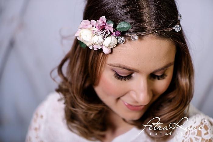 Blumenkranz Bluten Braut Frisur Hochzeit Boho A1 Weihnachten