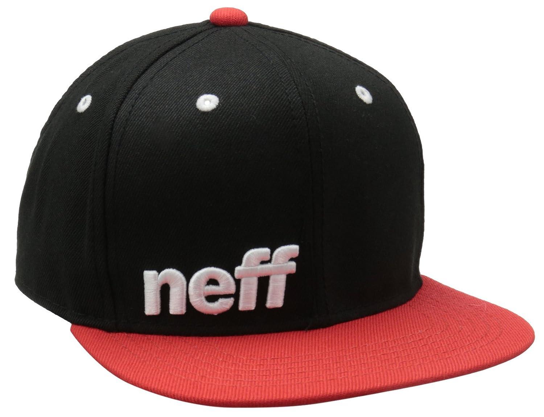 Neff Daily Cap Snapback Snap Mtze Flatbrim Basecap B00FRA0JCM One Size|ブラック/レッド/ホワイト ブラック/レッド/ホワイト One Size