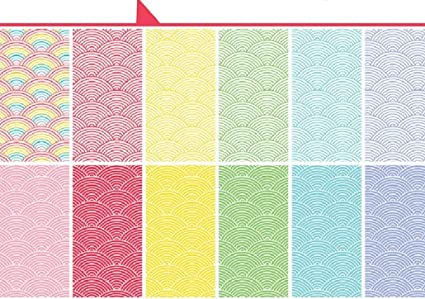 """Lawn Fawn Single-sided Petite Paper Pack 6/""""x6/"""" 36//pkg-really Rainbow Scallops,"""