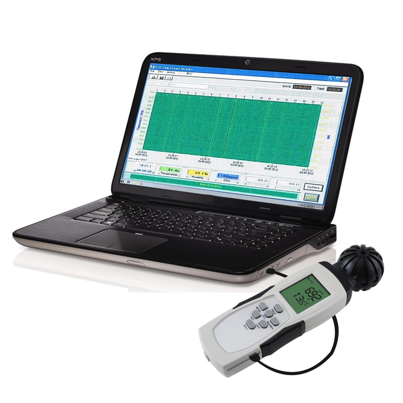Carbon Dioxide Sensor Meter Tester 9999ppm CO2 Temperature RH Measurement by Gain Express (Image #5)