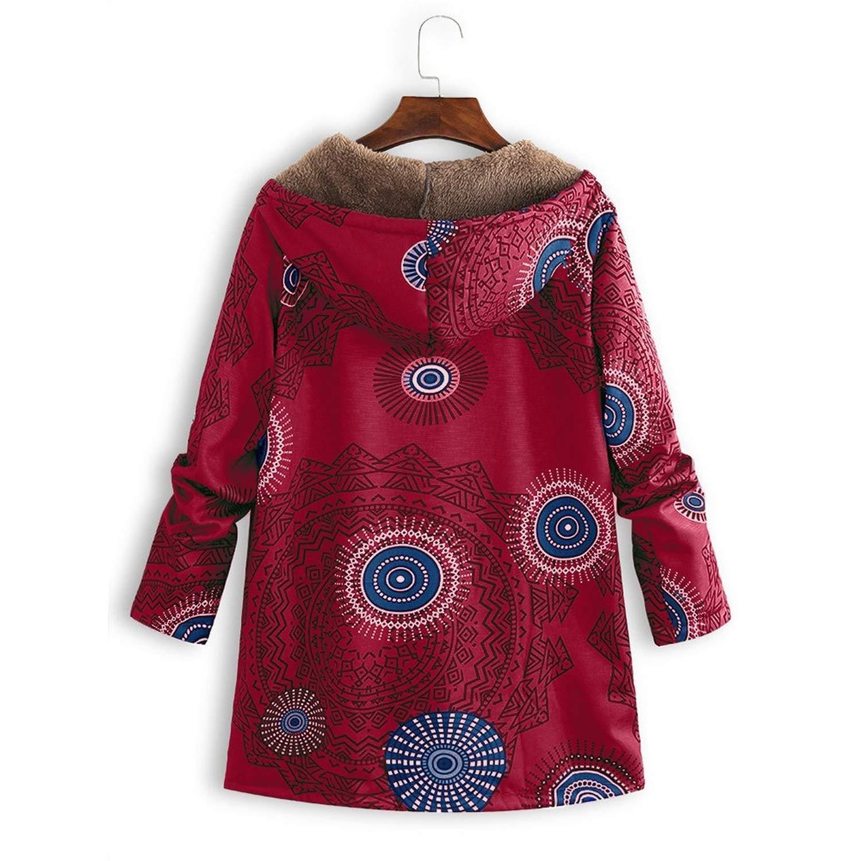 Vintage Women Winter Warm Thick Jacket Outwear Retro Causal ...