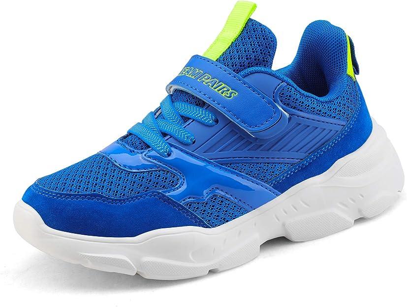 DREAM PAIRS Boys Girls Running Walking Shoes Lightweight Breathable Tennis Fashion Sneakers Pink Purple Size 5 M US Big Kid KD18002K