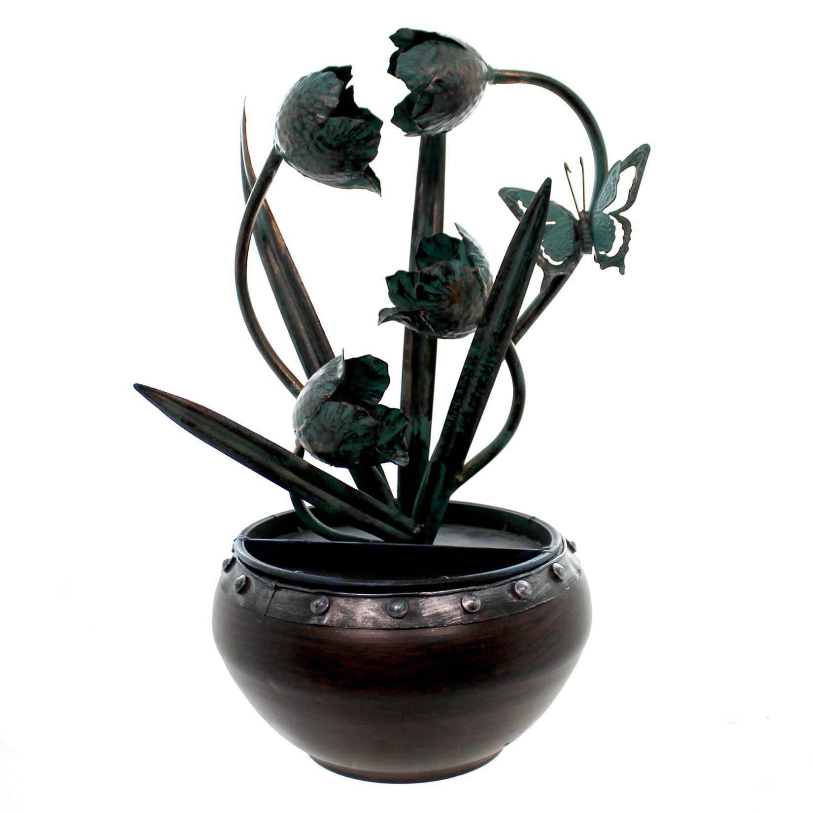 Nature's Garden Tulip Metal Fountain by Nature's Garden