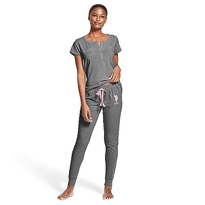 U.S. Polo Assn. Womens Short Sleeve Shirt and Long Pajama Pants Sleepwear Set at Women's Clothing store