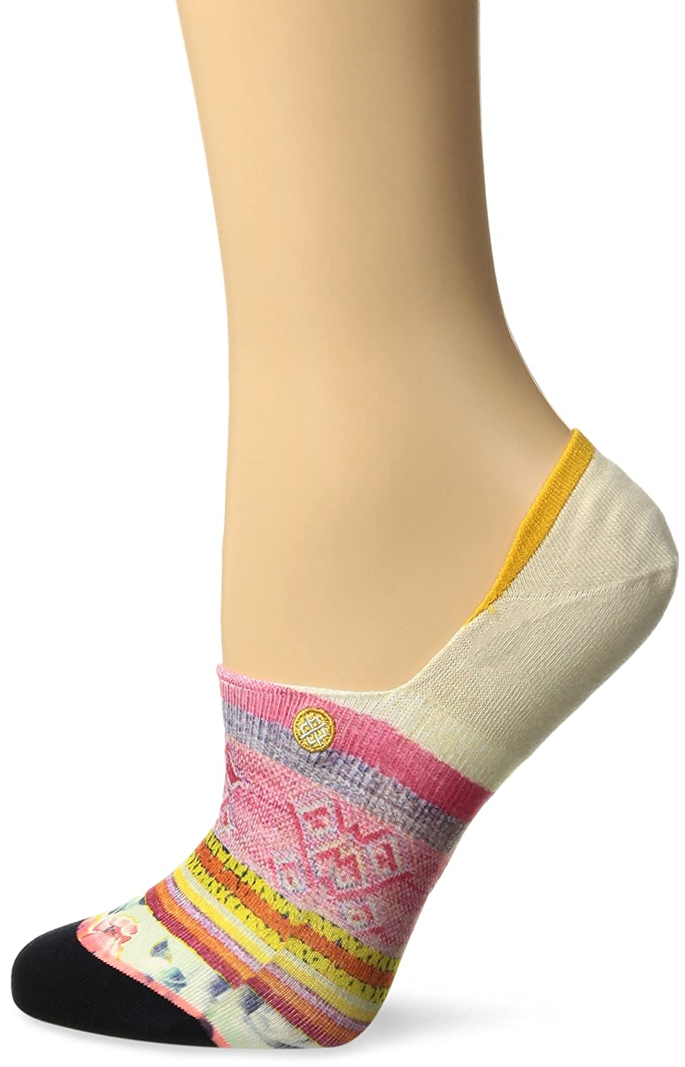 Stance Women's Lima Lights Floral Striped Arch Support Super Invisble Sock