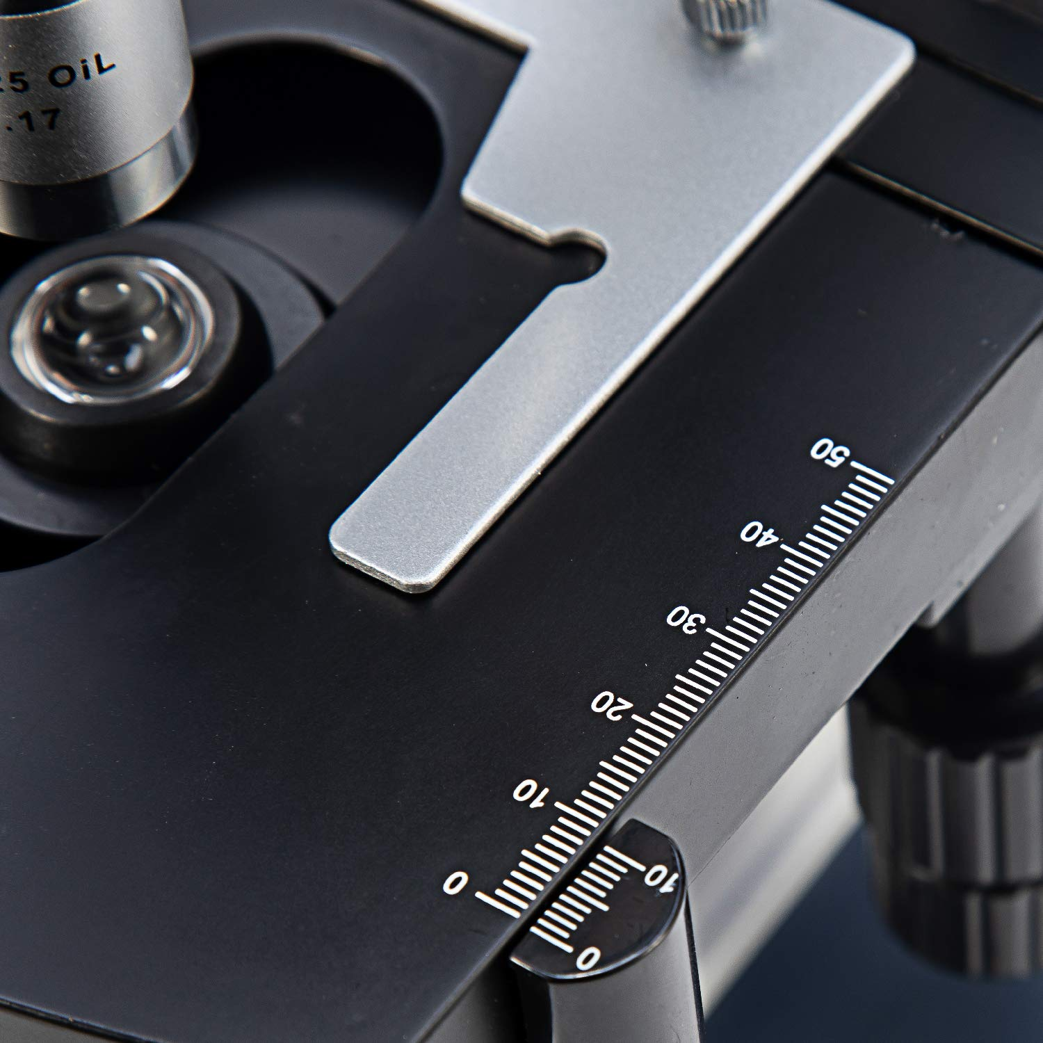Swift SW350B 40X-2500X Magnification, Siedentopf Binocular Head, Research-Grade Compound Lab Microscope with Wide-Field 10X and 25X Eyepieces, Mechanical Stage, Abbe Condenser by SWIFT (Image #8)