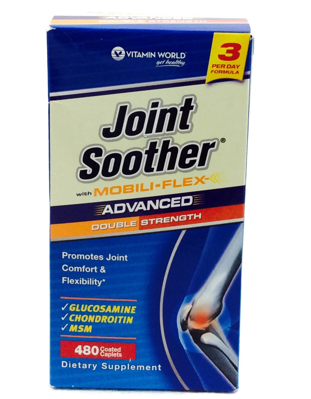 Advanced Double Strength Joint Soother 480 Caplets by Vitamin World