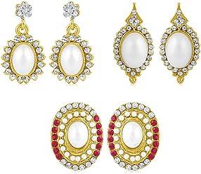 Sukkhi Copper Drop Earrings for Women (Golden) (CB70119GLDPD500)