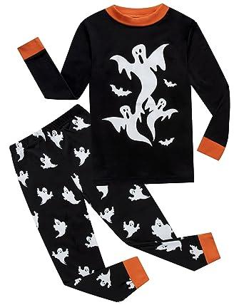 if pajamas halloween ghost little boys pajamas sets 100 cotton clothes toddler kids pjs size