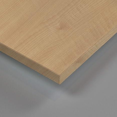 Tischplatte holz natur  MySpiegel.de Tischplatte Holz Zuschnitt nach Maß Beschichtete  Holzdekorplatte (120 x 70 cm, Ahorn Natur)