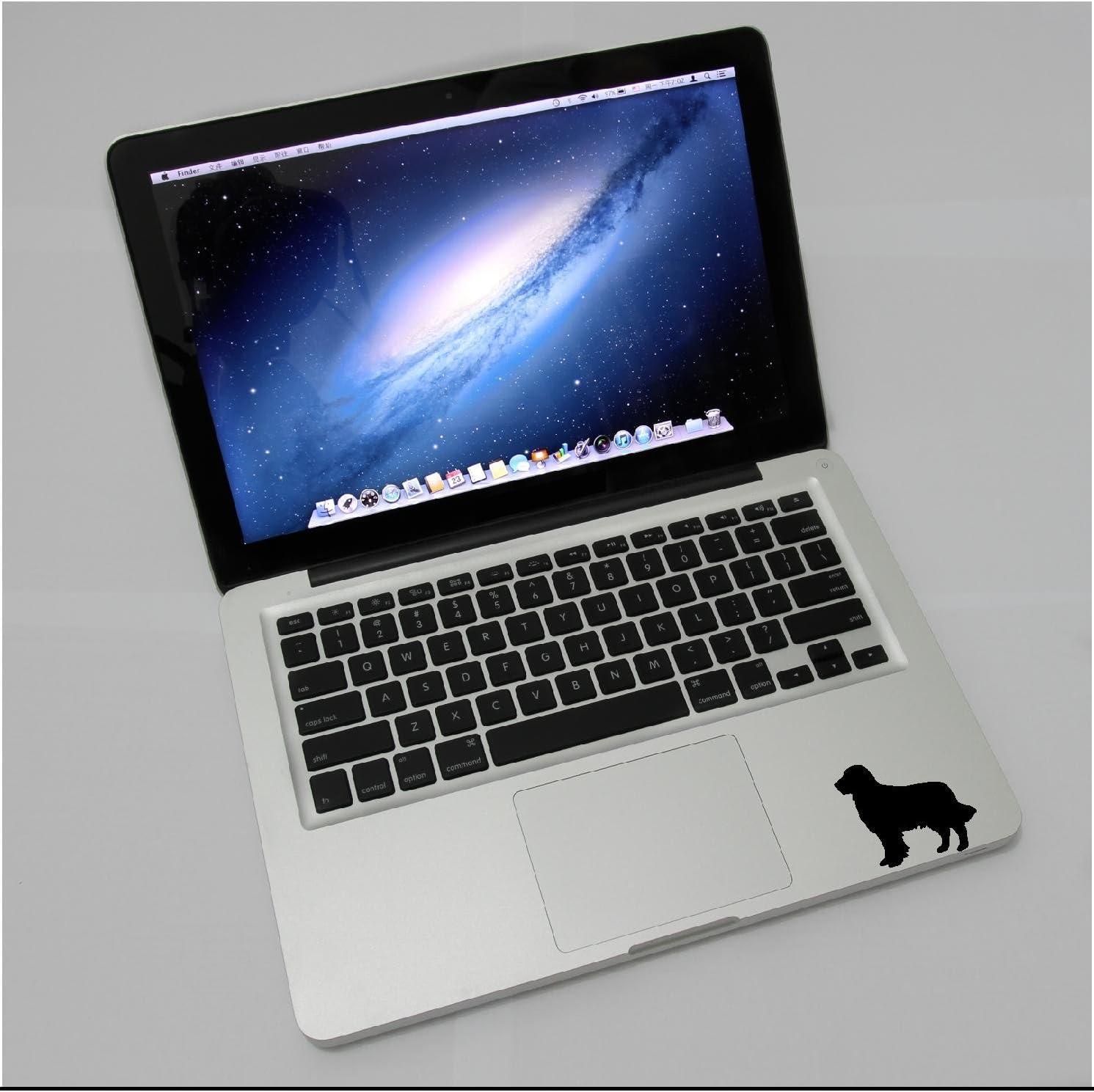 Laptop - Golden Retriever Dog pet Cute Decal - Matte Black Skins Stickers