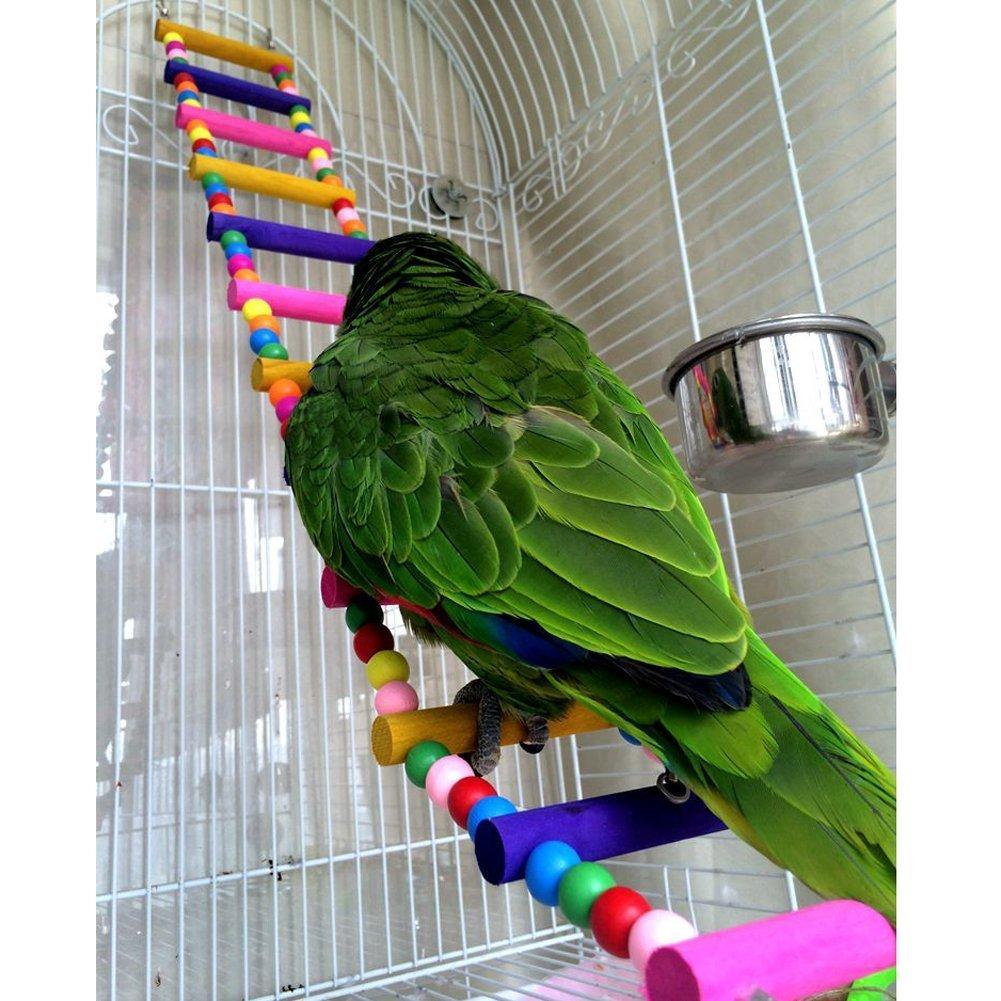 3 Piezas Juguetes para Pajaros para Escalar y Masticar Escalera Columpio Percas para Loros Pet Bird Parrot Bite Toy Swing Decoraci/ón Accesorios de Jaula