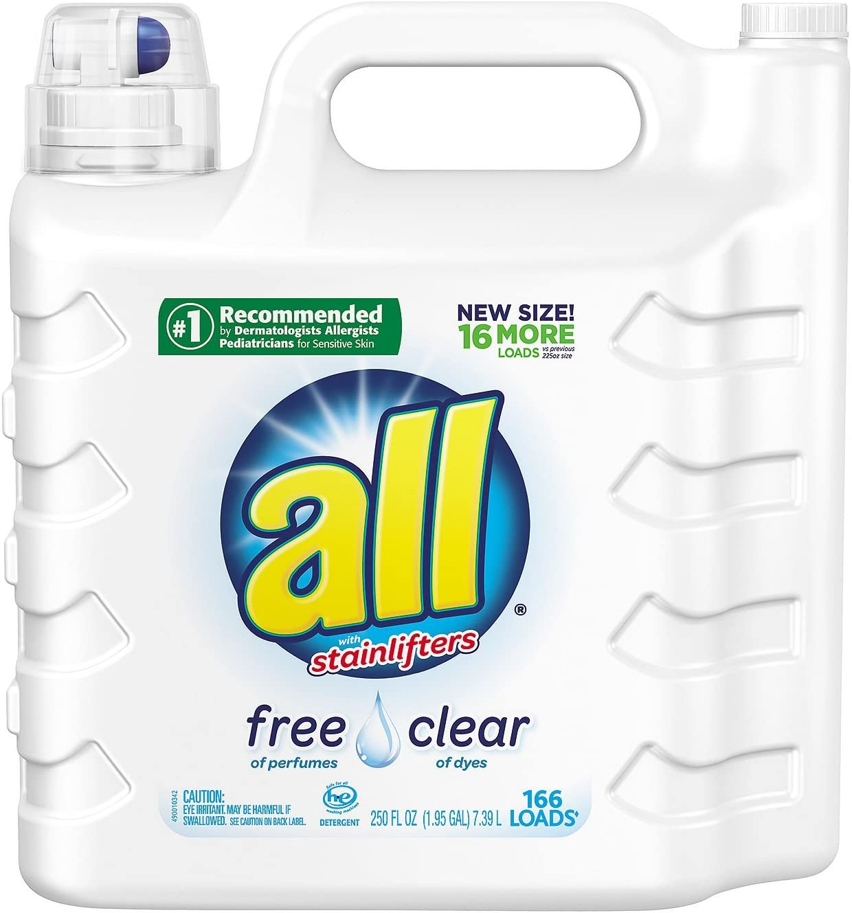 all 2X Ultra with Stainlifter Free & Clear (250 oz., 166 loads)