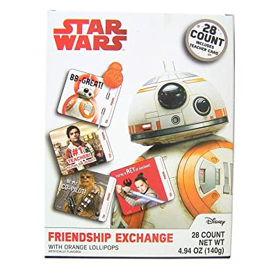 Star Wars Valentines Day Cards for Kids with Lollipops Friendship Exchange Kit, 28 Count: Office Products