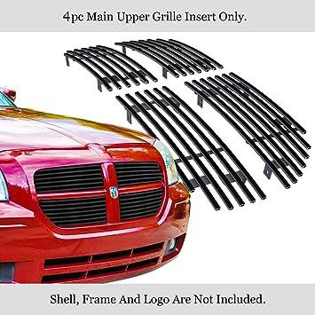 Topline Autopart Black Mesh Front Hood Bumper Grill Grille ABS For 05-07 Dodge Magnum