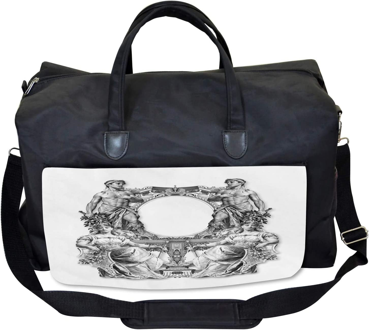 Large Weekender Carry-on Ancient Baroque Crown Ambesonne Victorian Gym Bag