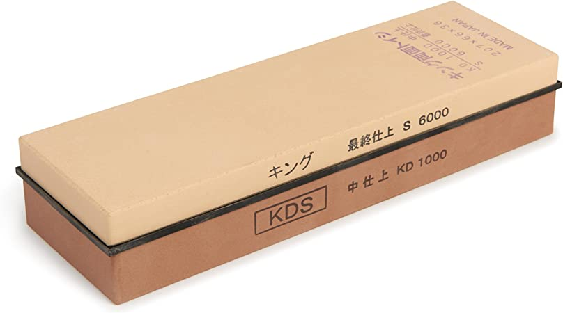 Medium by KING King Kds 1000//6000 Combination Grit Whetstone