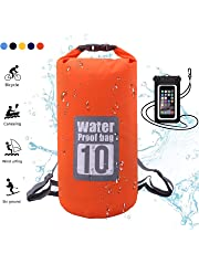Dry Bag,5L,10L,15L,20L,30L,Wasserdichte Tasche,Wasserdichter Packsack,Wasserdichte Beutel mit Wasserdichter Handybeutel,f¨¹r Ruder,Boot und Kajak,Rafting Angeln,Camping und Snowboarden
