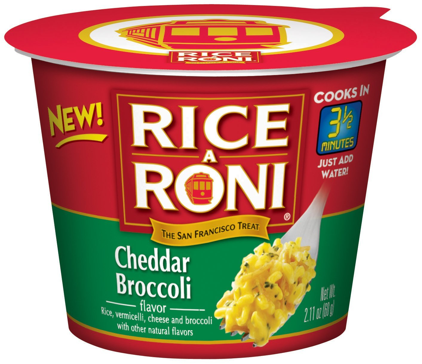 Amazon Com Rice A Roni Cups Cheddar Broccoli Individual Cup 2 11 Ounce Pack Of 12