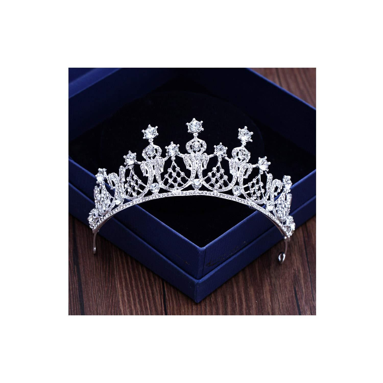 Diverse Silver Gold Color Crystal Crowns Bride tiara Fashion Queen For Wedding Crown Headpiece Wedding,Silver6