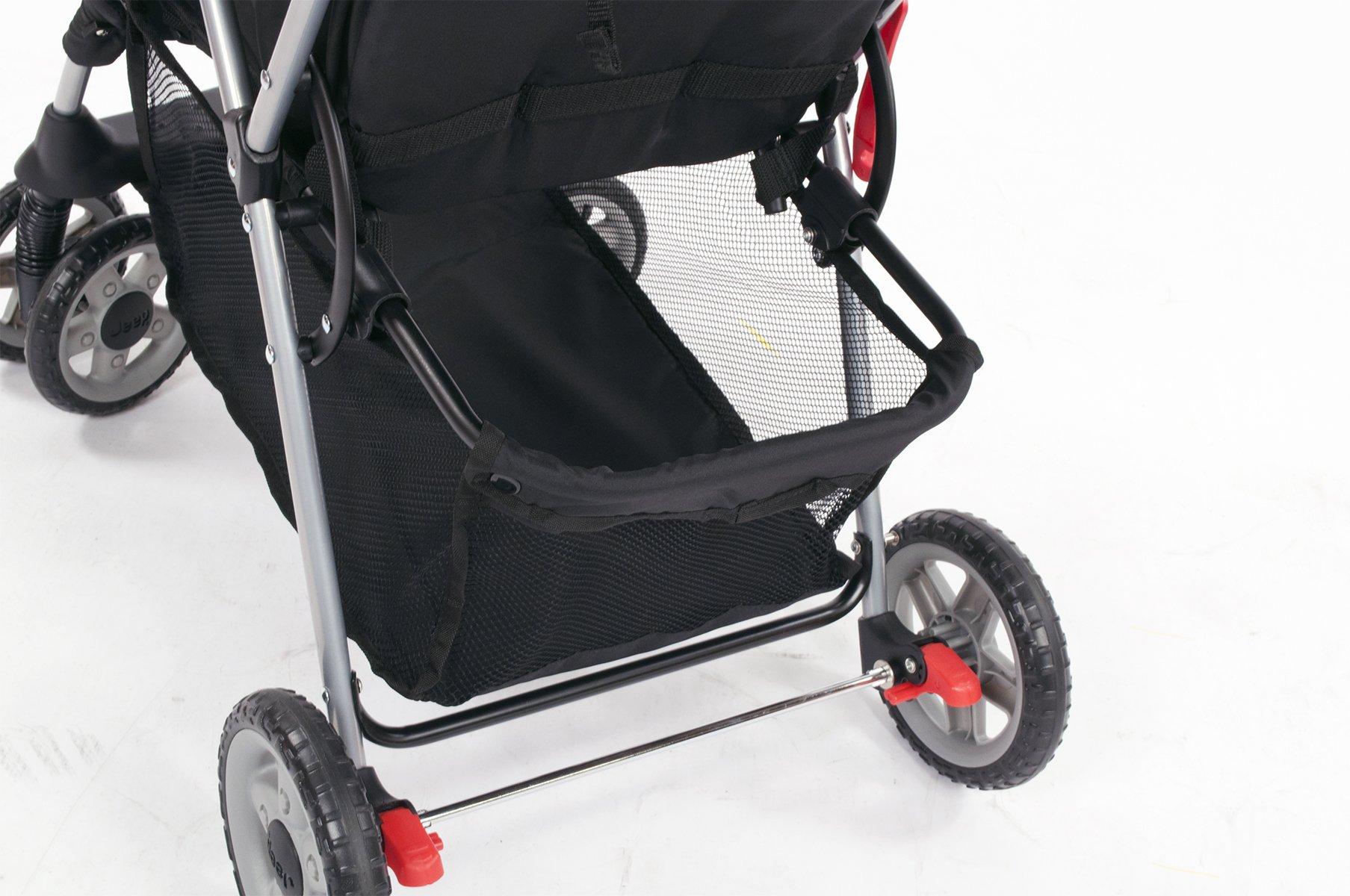 Lightweight Reclining Folding Stroller One Hand Storage