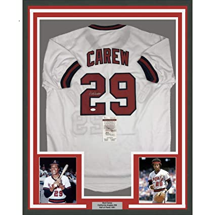 Framed Autographed Signed Rod Carew 33x42 California White Baseball ... d4be69fc1