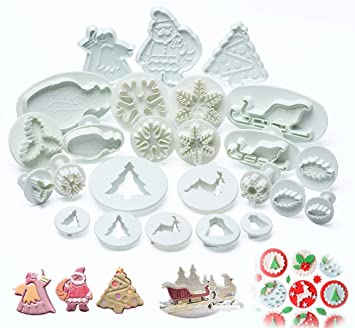 decoration patisserie noel ilauke 25PCS Noël Décoration Emporte Pièces Moules à Pâtisserie  decoration patisserie noel