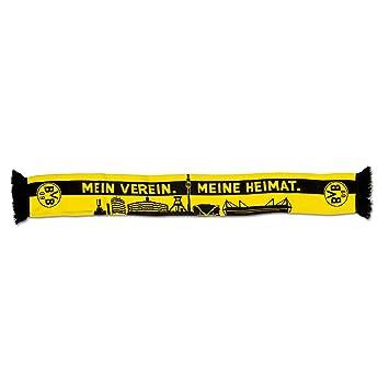 bien concepteur neuf et d'occasion haute couture Écharpe de Supporter Borussia Dortmund Skyline, Jaune/Noir ...