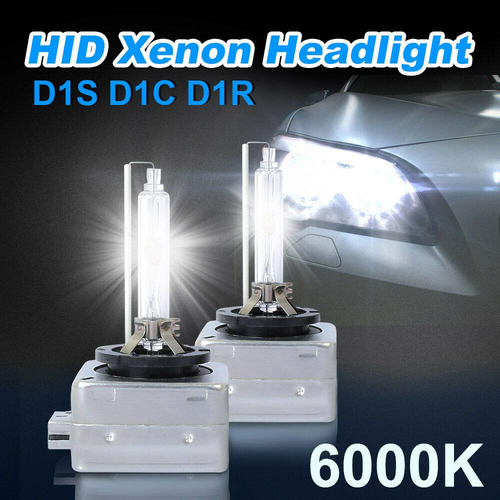 XIAOKUKU D1R D1S D1C 6000K White HID Xenon Headlight Fog Bulbs Lamp Replacement Lights,6400LM 70W Compatibility Car, Motorcycle, Electric Motor Car