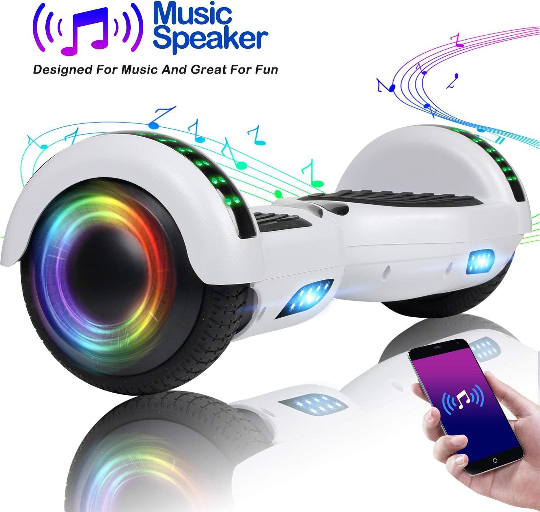 VEVELINE Hoverboard UL2272 Certified 6.5 inch Self Balancing Hoverboards Hover Board for Kids w//Bluetooth Speaker