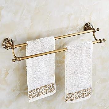GZ Bastidor de Toallas Todo Tipo de Toalla de Cobre Barra Doble Toallero Cuarto de baño Toallero de baño Cuarto de baño Colgante de Hardware: Amazon.es: ...