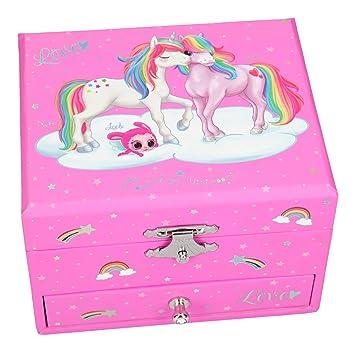 Depesche 10407 - Joyero con Caja de música, Ylvi y los Minimoomis, Unicornio Naya: Amazon.es: Juguetes y juegos