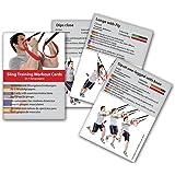 Sling Trainer Trainingskarten 54 Übungen, Premium Sling Training Kartenspiel, Suspension Trainer Übungen Trainingsplan Workout Karten