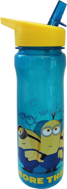 Polar Gear More Than a Minion - Botella de plástico de polipropileno, color turquesa, amarillo, 600 ml