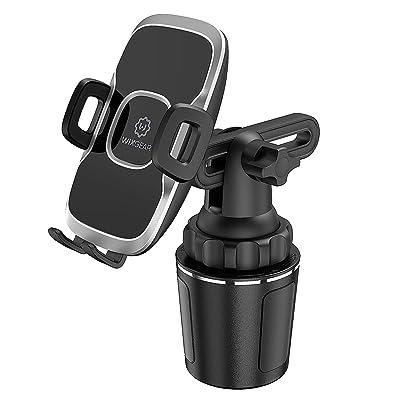 Cup Holder Phone Mount, WixGear Car Cup Holder Phone Mount Adjustable Automobile Cup Holder Smart Phone Cradle Car Mount [5Bkhe1500176]
