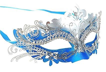 Masquerade Mask Shiny Metal Rhinestone Venetian Pretty Party Evening Prom  Mask 337b0ed79c26