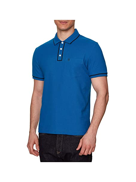 Original Penguin Earl Polo Shirt Snorkel Blue-M: Amazon.es: Ropa y ...