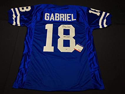 "02f8b2cd415 Image Unavailable. Image not available for. Color: Roman Gabriel Signed Los  Angeles Rams Football Jersey""1969 ..."