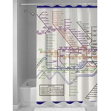 London Underground Tube Map Shower Curtain 1933 Print
