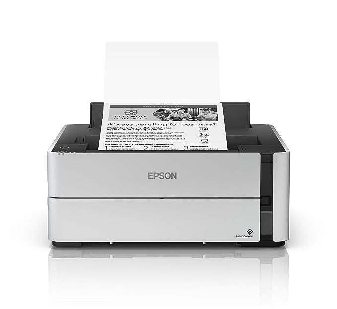 Epson EcoTank ET-M1170 - Impresora de inyección de tinta recargable, impresión DIN A4, WiFi, pantalla, USB 2.0, gran depósito de tinta, gran alcance, bajo coste de página