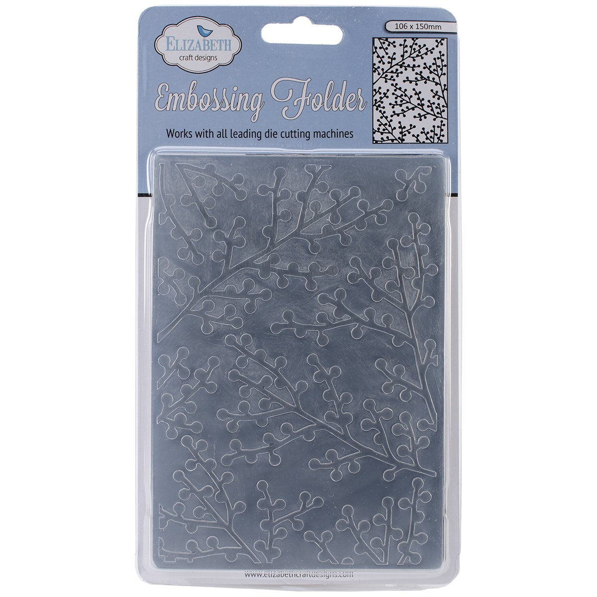 Elizabeth Craft Designs Embossing Folder, 4 by 6-Inch, Berry Branch ECEM-103