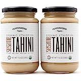 Organic Stone-Ground Ethiopian Sesame Tahini Paste, Hulled, Unsalted, Non-GMO, Gluten-Free, Kosher, Vegan, USDA Organic, Pean
