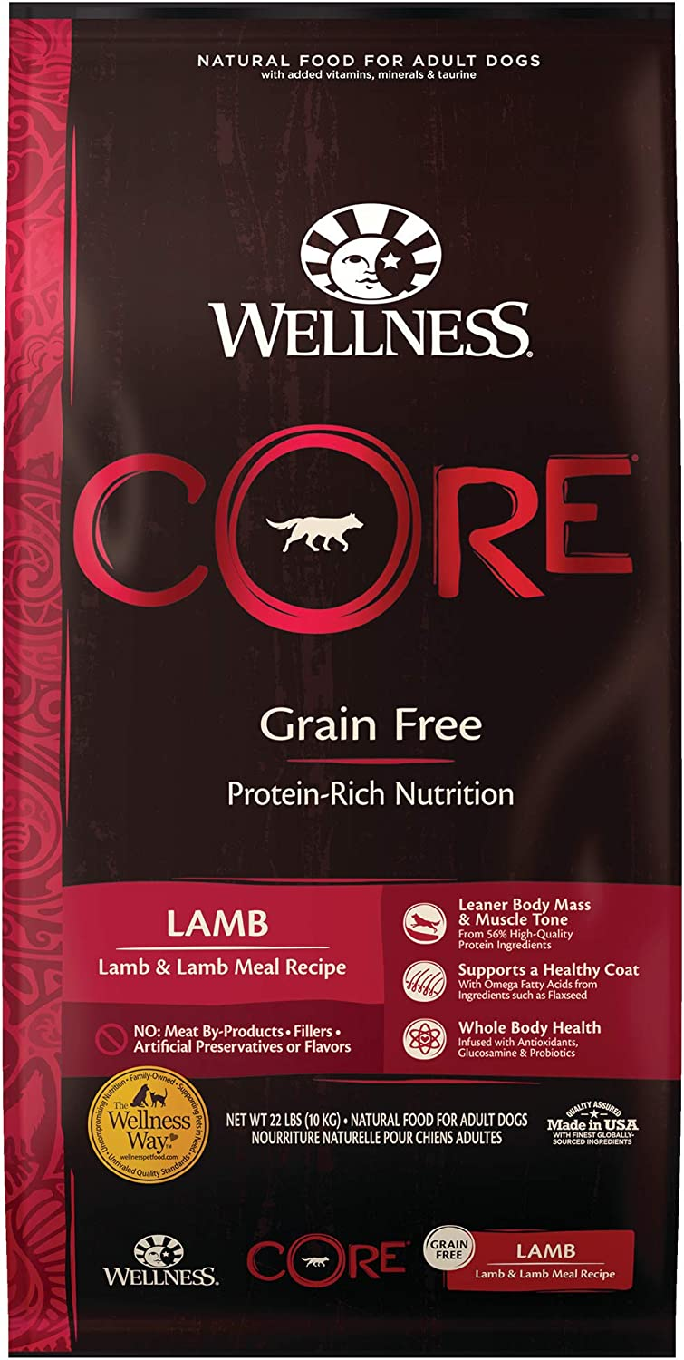 Wellness CORE Natural Grain Free Dry Dog Food, Lamb