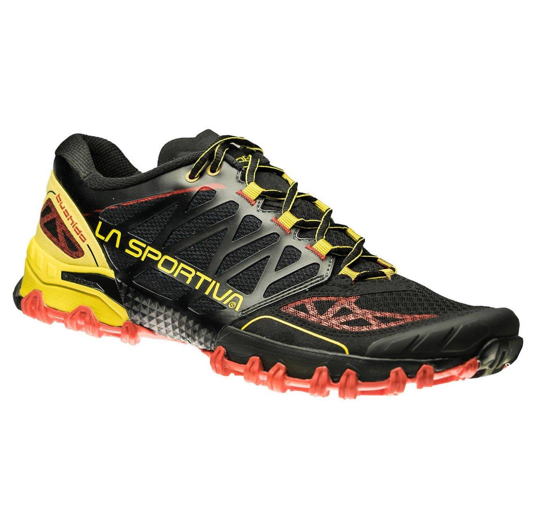 La Sportiva Bushido, Deportivos de Running para Hombre 45.5 EU|Multicolor (Black / Yellow 000)