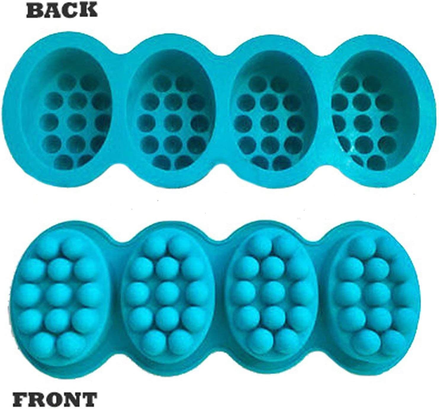 Polymer clay chocolate making Pack of 1 candle making 1 Pc Massage Bar Silicone Molds 4 Cavities 4.5oz Soap Mold For DIY Soap making