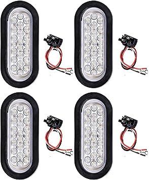trailer backup light wiring amazon com white 22 led rear tail reverse backup light w wiring  white 22 led rear tail reverse backup