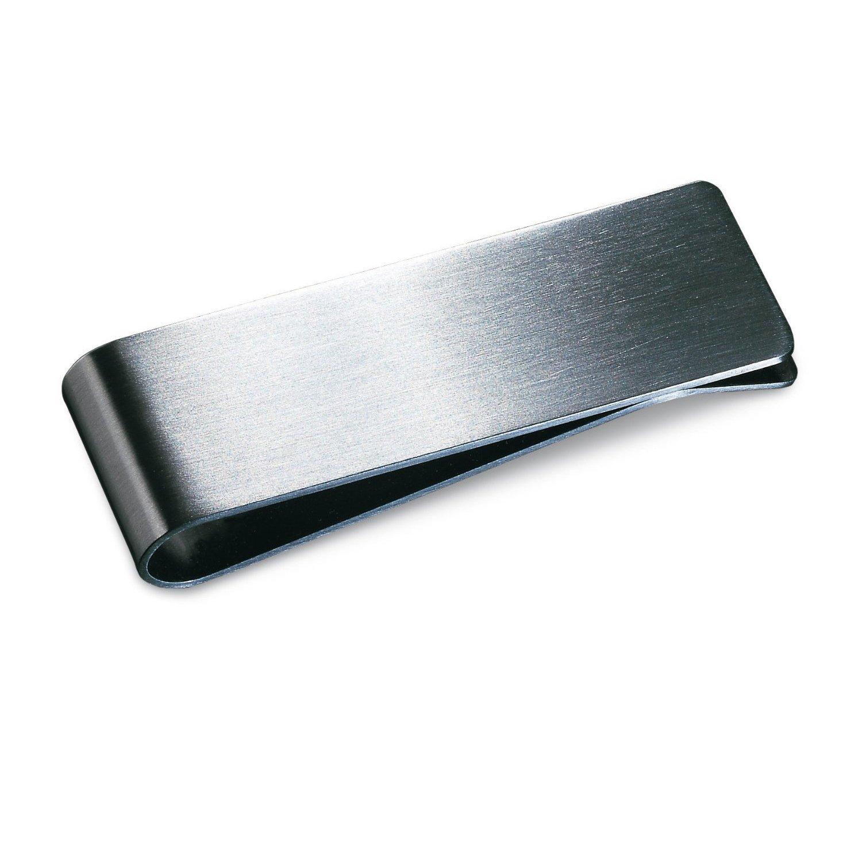 SODIAL R Clip de dinero de Acero inoxidable mate plata terminar caja