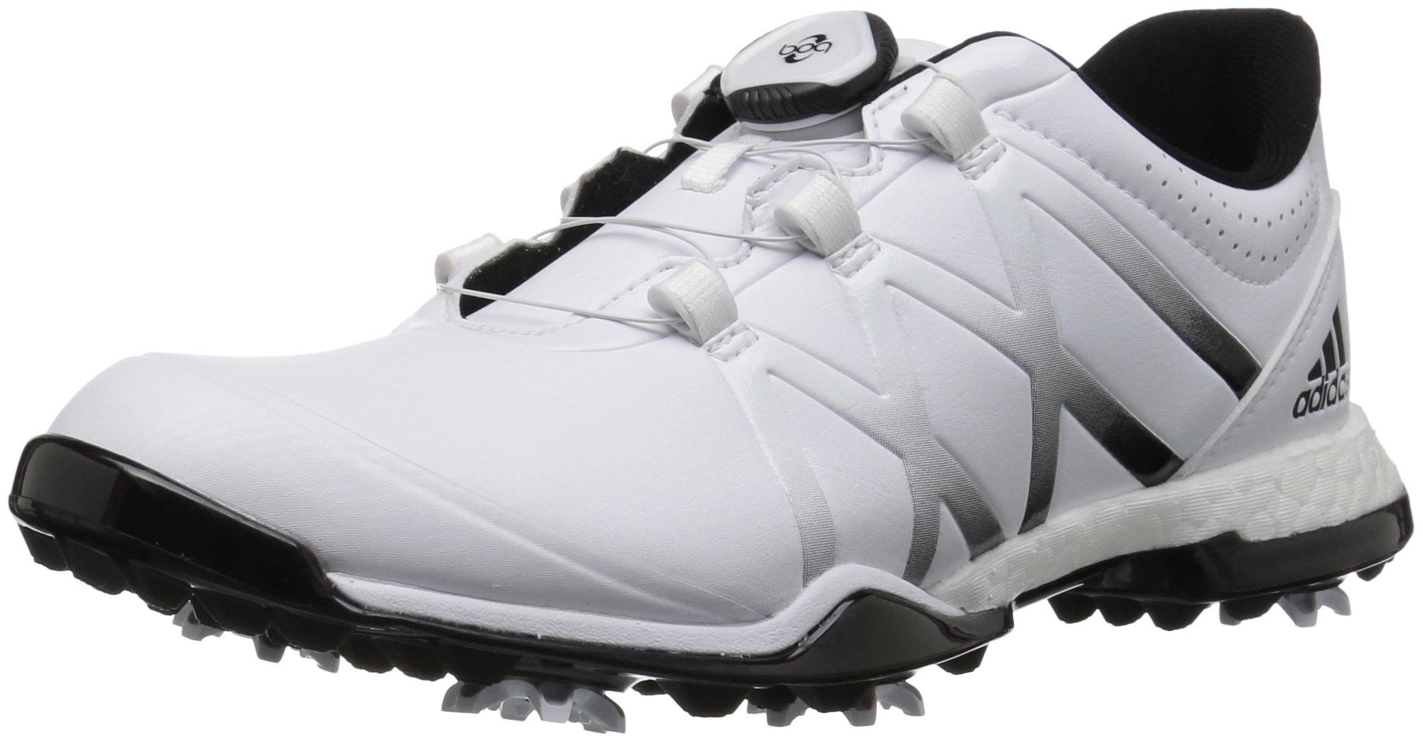 adidas Women's Adipower Boost BOA Golf Shoe, White/Black, 8.5 M US