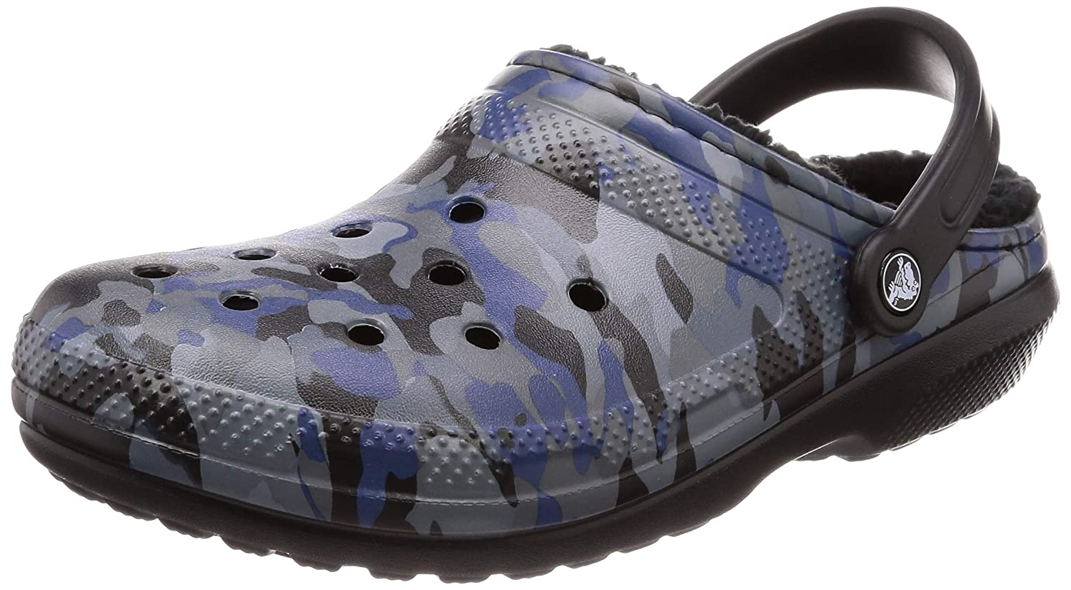 Crocs Kids' Classic Lined Camo Graphic Clog 205324-938