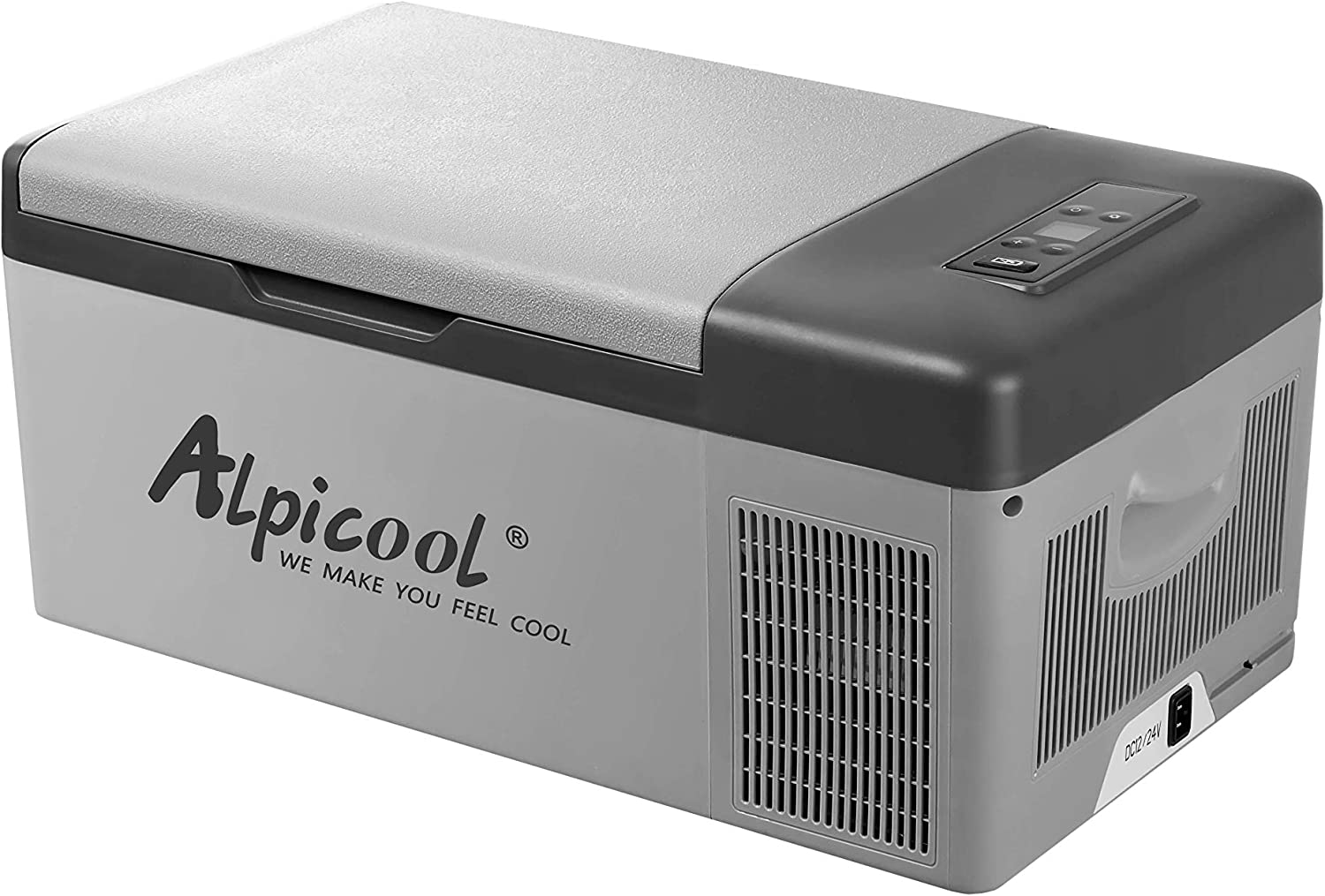 Alpicool C15 Portable Refrigerator 16 Quart 15 Liter Vehicle, Car, Truck, RV, Boat, Mini fridge freezer for Driving, Travel, Fishing, Outdoor and Home use -12 24V DC and 110-240 AC